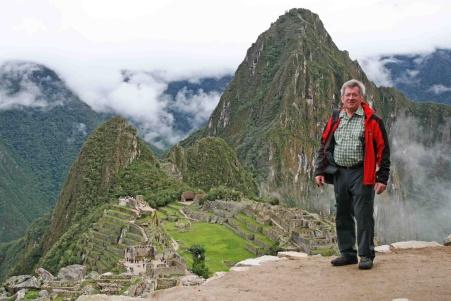 Franz Glanz am Machu Picchu in Peru